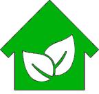 Ikona zielonego domku